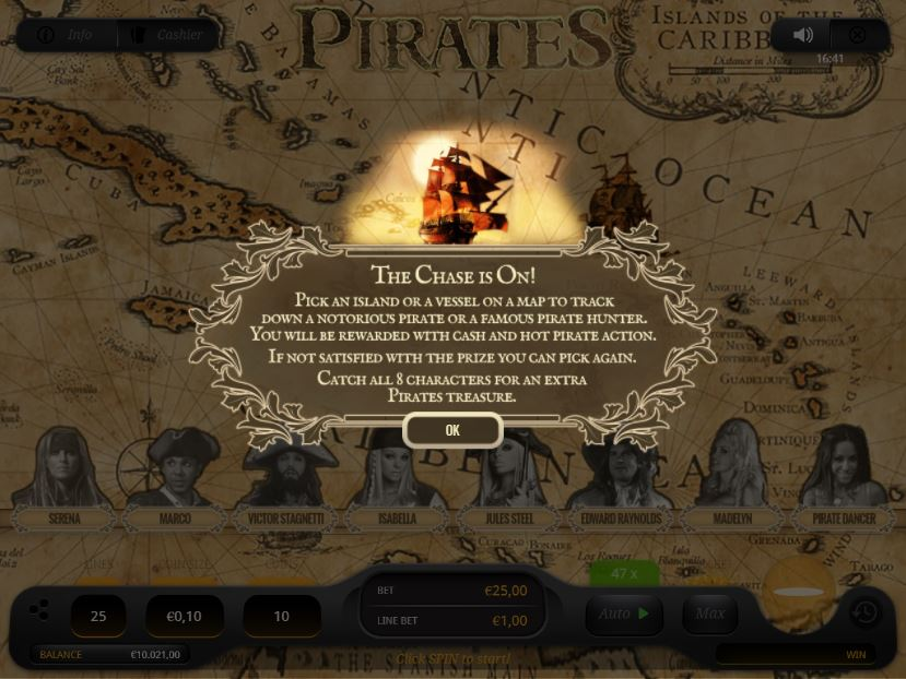 Pirates Bonus Game