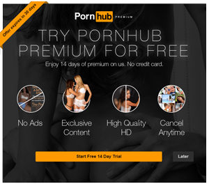 Free Premium Account at PornHub