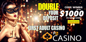 Double up your deposit with PornHub Casino