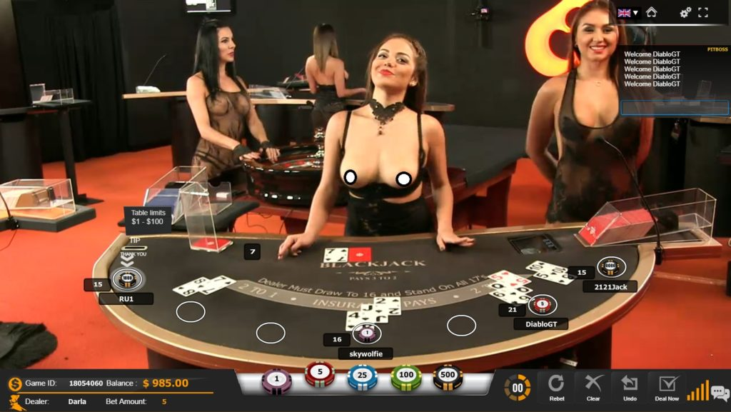 sexy live dealers at PornHub Casino