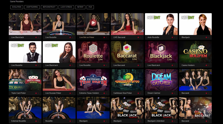 sexy live dealers at bet on aces casino
