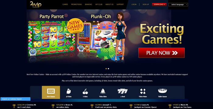 24vip casino website appearance