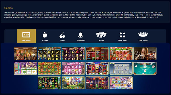 24VIP Casino games