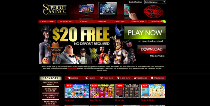 Superior Casino Website