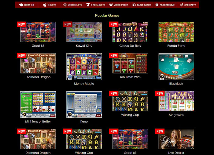 Superior Casino Casino Games