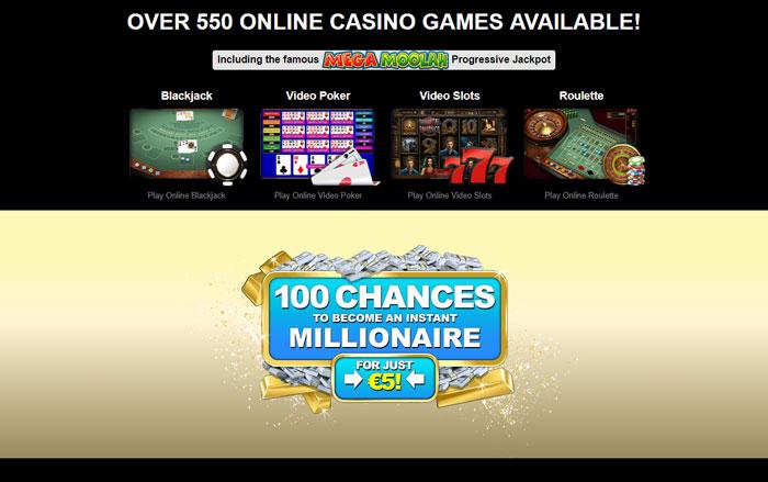 Captain Cooks Casino Games Offer