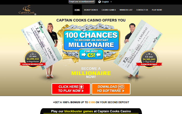 Captain Cooks Casino Website