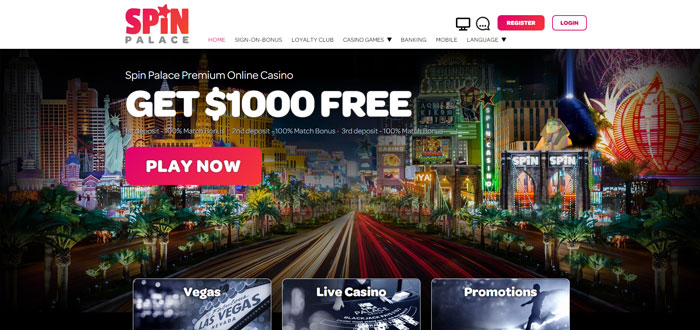 Spin Palace Casino Website Review