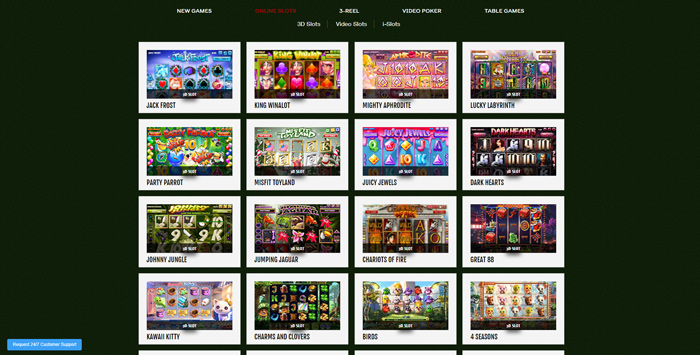 888tiger casino games lobby