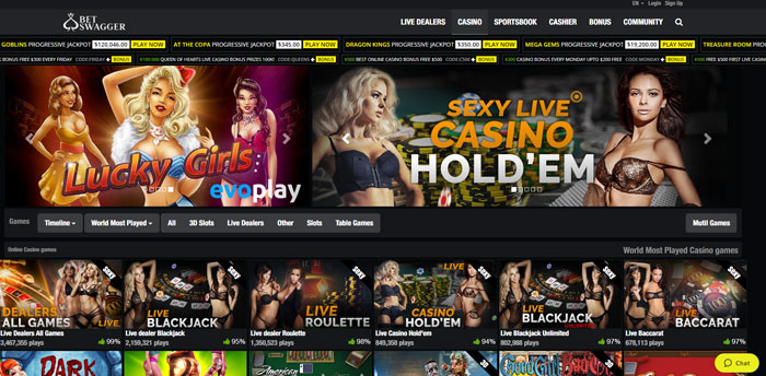 hot naked live dealers at Bet Swagger