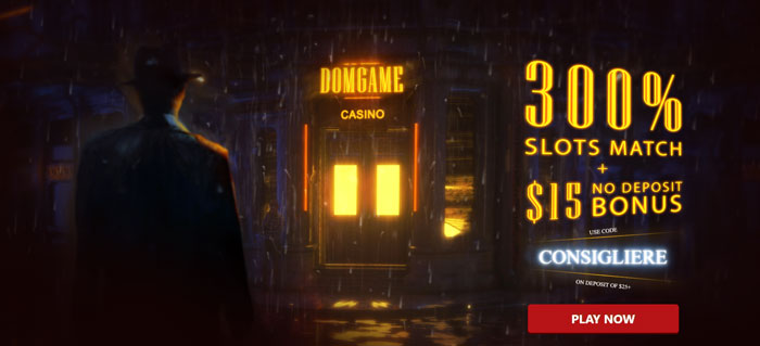 DomGame Casino Welcome Offer