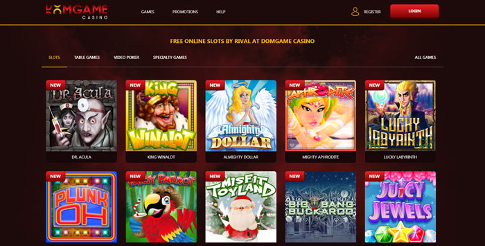 DomGame Casino Online Slots Lobby