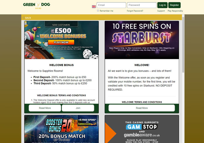 GreenDog Casino Promotions