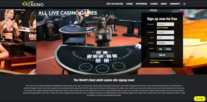Hot naked live dealers at Casino PlayHub